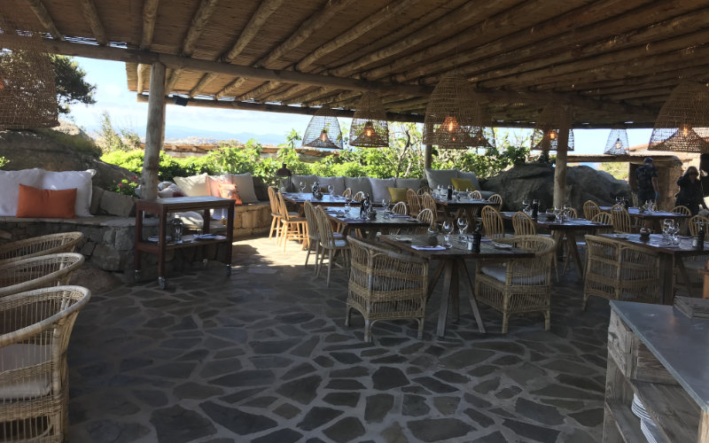 La Ferme restaurant at Cavallo Island